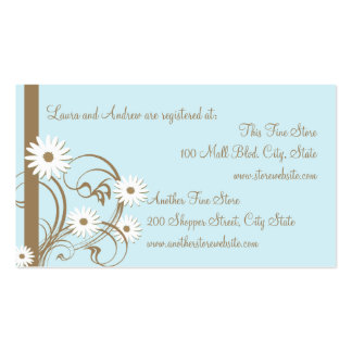 Daisy Shower registry card Pack Of Standard Business Cards
