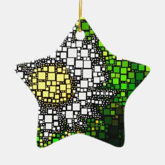 Daisy Squares Christmas Ornament