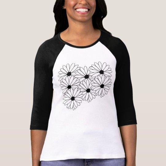 Daisy Storm Pattern Customisable T-Shirt