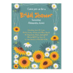 Daisy Sunflower Bridal Shower Party Invitation Postcard