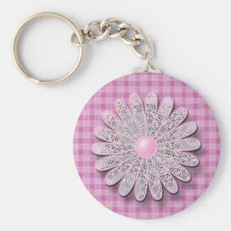 Daisy Tassel Matching Set Basic Round Button Key Ring