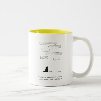 "Daisy The Cat ""Arguments"" Two-Tone Coffee Mug"