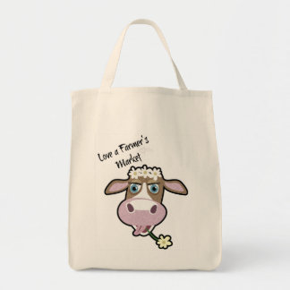 Daisy, The Cow, Market Shopping Tote Grocery Tote Bag