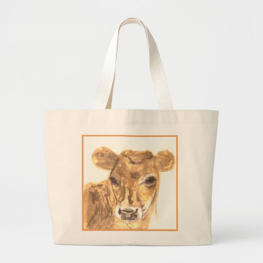 Daisy the Cow White Jumbo Tote Bag