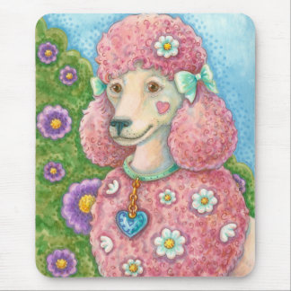 DAISY The French Pink Poodle MOUSE PAD
