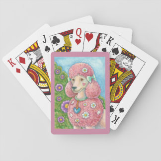 DAISY The French Pink Poodle PLAYING CARDS