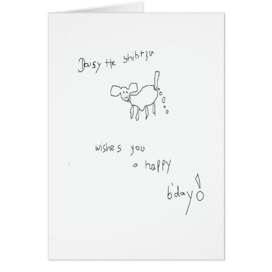 Daisy the Shih Tzu Birthday Card