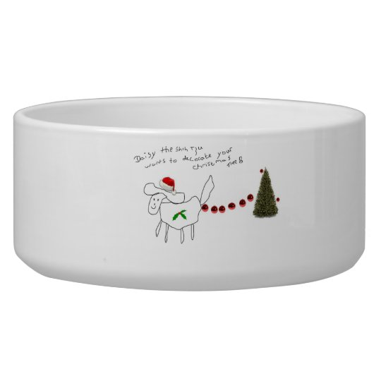 daisy the Shih tzu christmas dog bowl!!