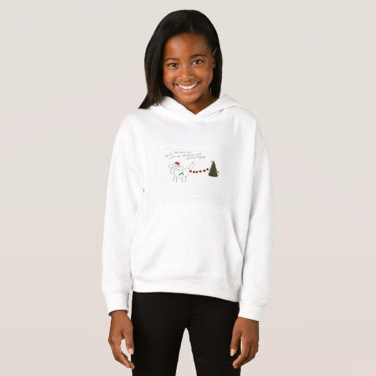 daisy the shih tzu kids christmas hoodie