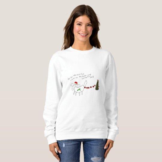 daisy the shih tzu ladies christmas sweatshirt