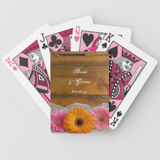 Daisy Trio Country Wedding Bicycle Playing Cards