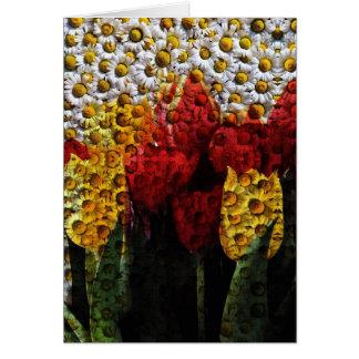 Daisy Tulip Collage Card