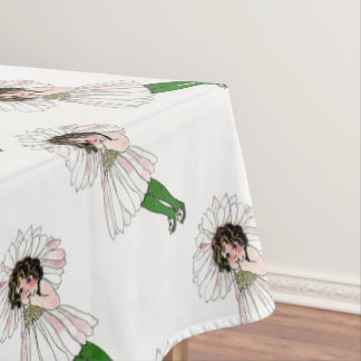 Daisy Vintage Cute Flower Child Girl Kids Tablecloth