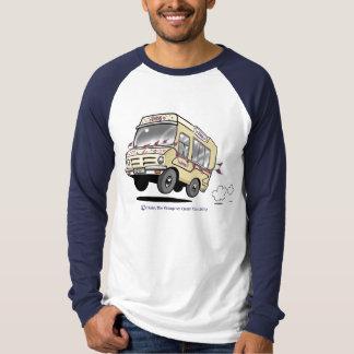 Daisy Vintage Ice Cream Van Boys Baseball Shirt
