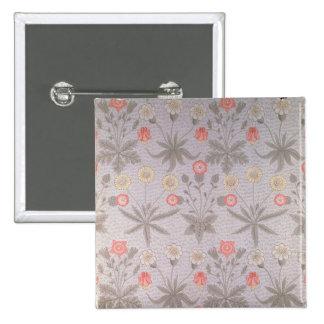 Daisy' wallpaper design 15 cm square badge