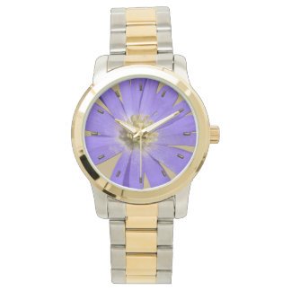 Daisy Watch Purple Daisy Flower Wrist Watch