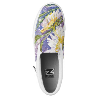 Daisy watercolor slip on shoes