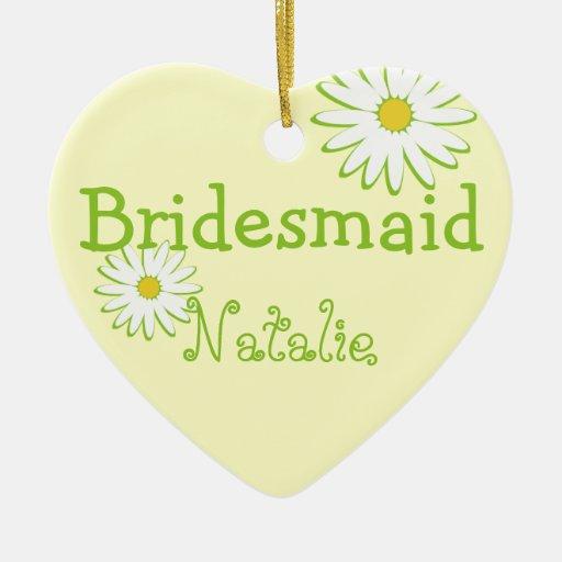 Daisy Wedding Bridesmaid Ornaments