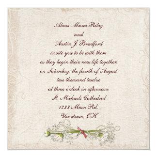Daisy Wedding Elegance 13 Cm X 13 Cm Square Invitation Card