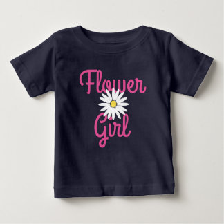 Daisy Wedding Flower Girl Baby T-Shirt