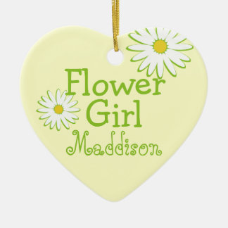Daisy Wedding Flower Girl Christmas Ornament