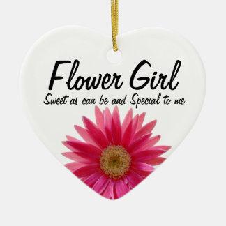 Daisy Wedding Flower Girl Christmas Ornament
