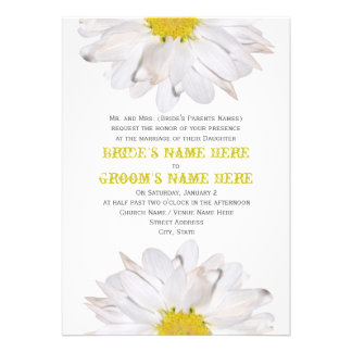Daisy Wedding Invitation - From Bride s Parents