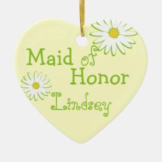 Daisy Wedding Maid of Honor Christmas Ornament