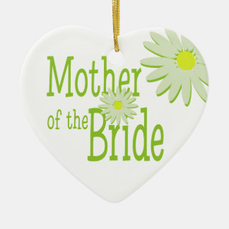 Daisy Wedding/ Mother of the Bride Ceramic Heart Decoration