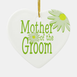 Daisy Wedding/ Mother of the Groom Ceramic Heart Decoration