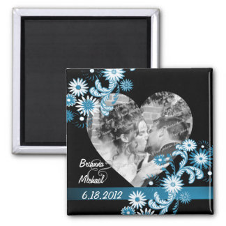 Daisy Wedding Photo Magnet