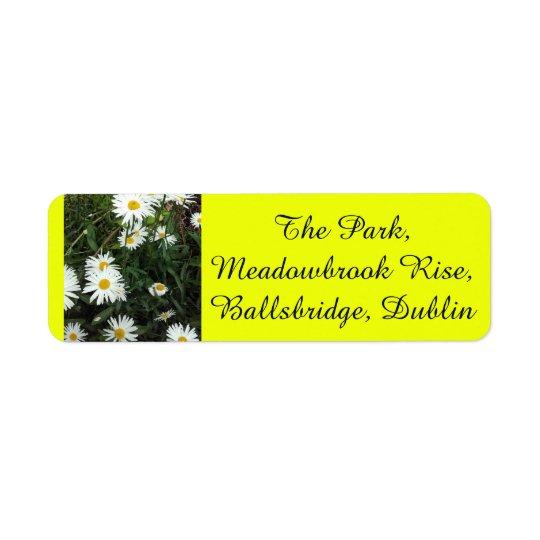 Daisy wedding Yellow Background Address stickers Return Address Label