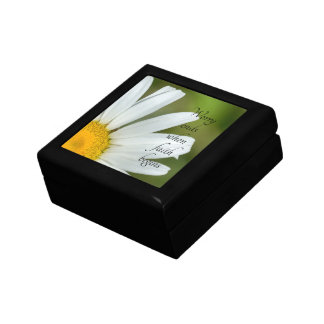 Daisy Worry Ends When Faith Begins Keepsake Box