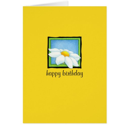 Daisy yellow Birthday Card