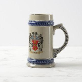 Dakins Coat of Arms - Family Crest Beer Stein