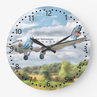 """Dakota """"Cleared to land"""" Number/minute dial Large Clock"""