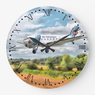 "Dakota ""Cleared to land"" Roman/minute dial Large Clock"