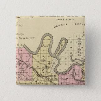 Dakota County, Nebraska 15 Cm Square Badge