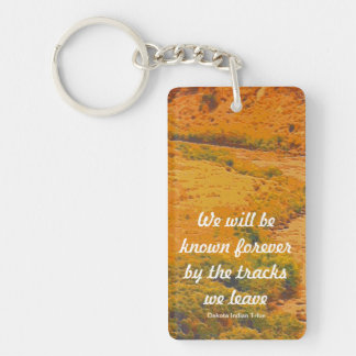 Dakota Indian Tribe message Double-Sided Rectangular Acrylic Key Ring
