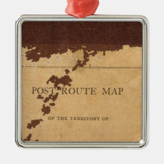 Dakota Territory post route map Christmas Ornament