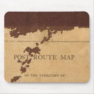 Dakota Territory post route map Mouse Mat