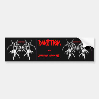 Dakotism Bumper Sticker