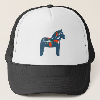Dala Horse Blue Modern Art Sweden Trucker Hat