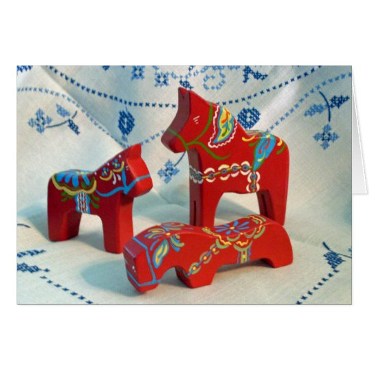 Dala Horse Collectors Notecard