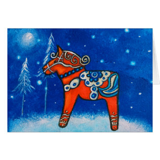 Dala Horse II ChristmasCard Card