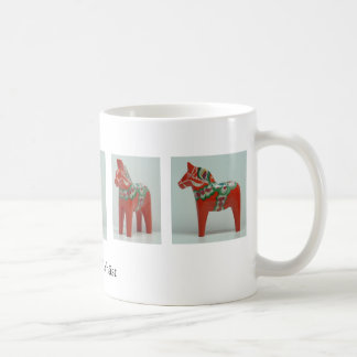 DALA HORSE mug - red