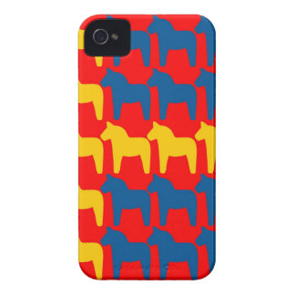Dala Horse Red Flag iPhone 4 Cover