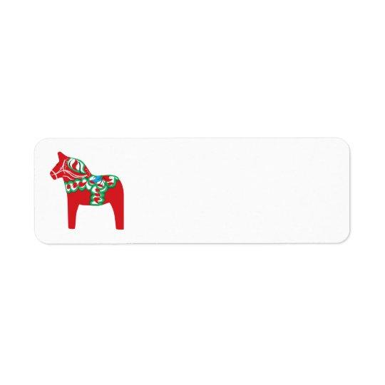 Dala Horse Return Labels