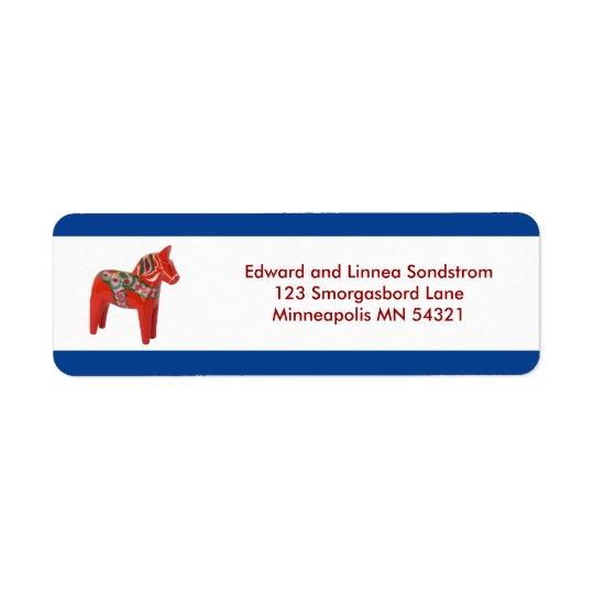 Dala Horse Scandinavia Return Address Label