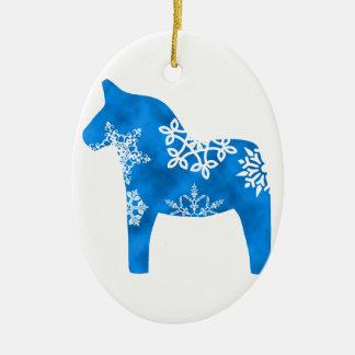 Dala Horse Snowflake Christmas Ornament
